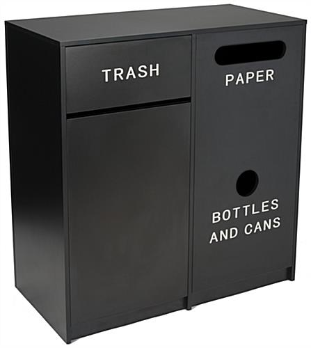 Trash Can Receptacle with Recycling Bins