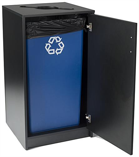 Commercial Recycling Receptacles Accommodates a 36 Gallon Liner