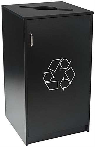 Commercial Recycling Receptacles with Mixed Materials Top