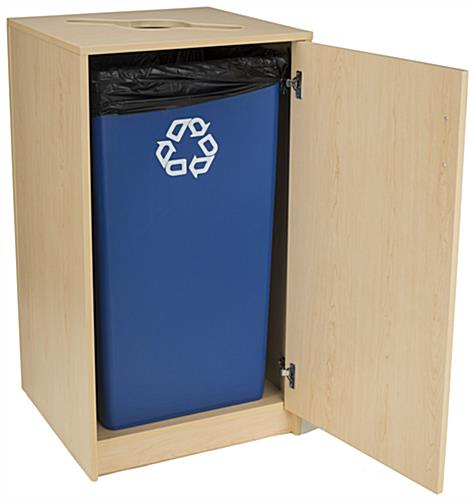 Café Recycling Cabinet with Mixed Material Top