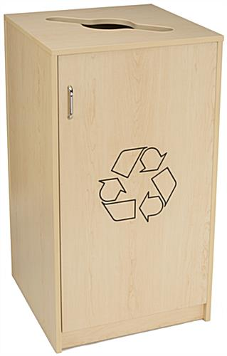 Café Recycling Cabinet with Maple Finish