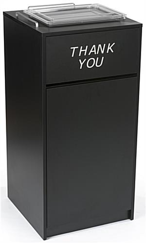 Thank You Restaurant Receptacle, Black Finish