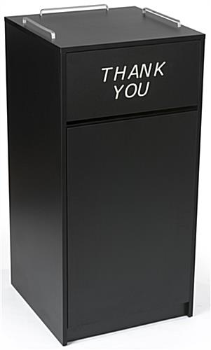 Thank You Restaurant Receptacle w/ Tray Top