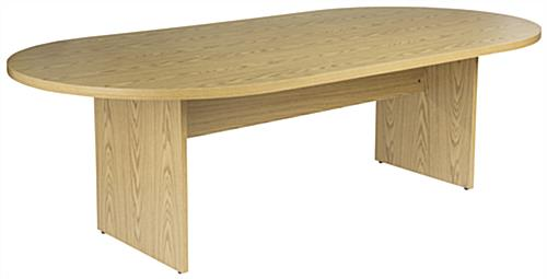 Oak Conference Table, Oval Design