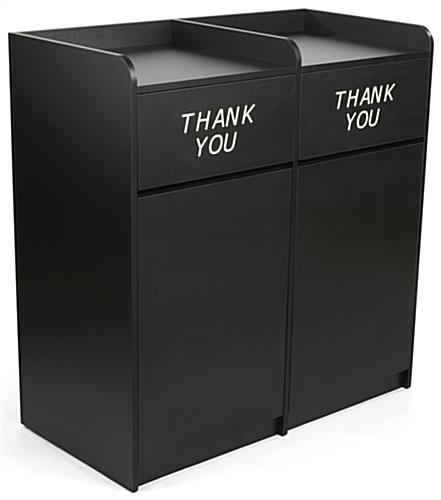 Black Side By Side Restaurant Waste Receptacles
