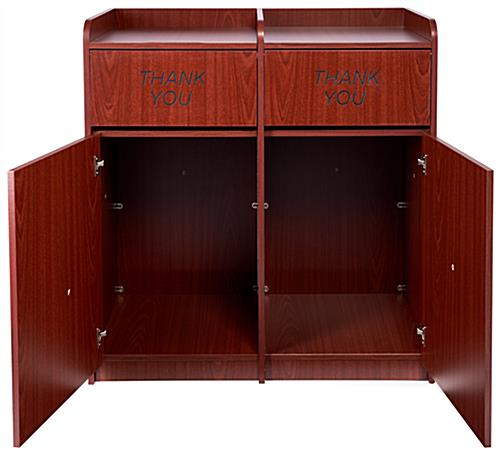 Waste Cabinet with Engraved Thank You