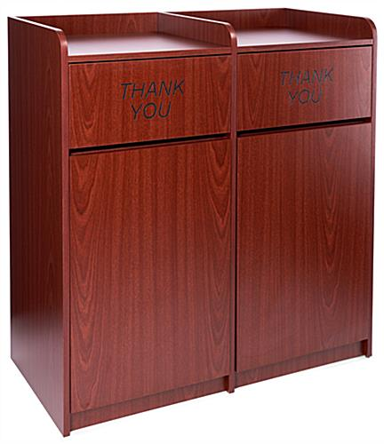 Waste Cabinet with Tray Shelf