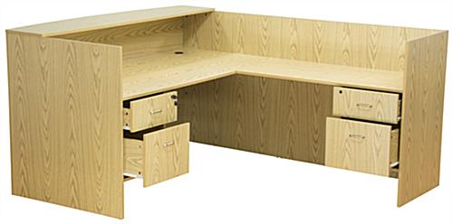 Oak L-Shaped Desk, Melamine