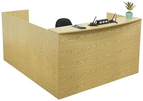 Oak L-Shaped Desk, MDF