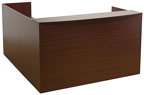 L-Shaped Reception Desk, 328 lbs
