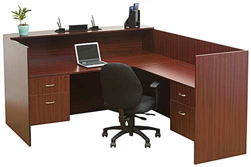 L-Shaped Reception Desk, Melamine