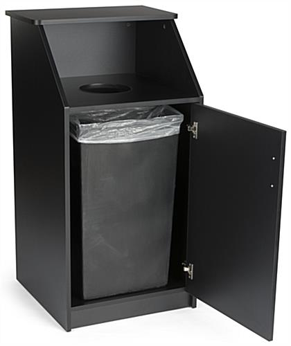 "45"" Black Waste Receptacle Enclosure"