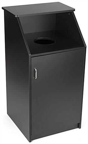 Black Waste Receptacle Enclosure, 36 Gallon Capacity