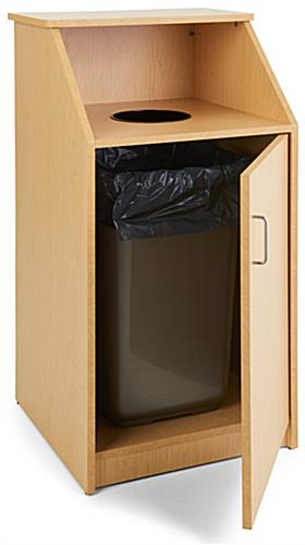 LCKDTLCSBK Cafe and Lunch Dining Trash Receptacle Circular