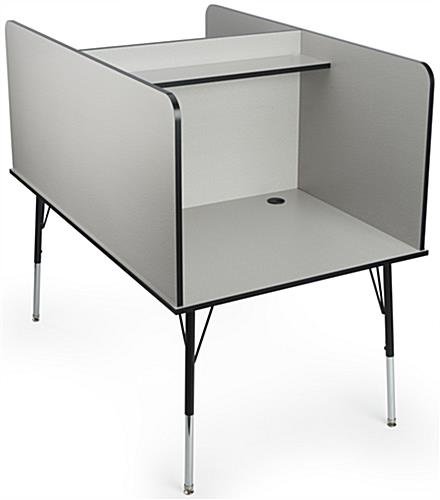 "35"" Wide Computer Carrel"