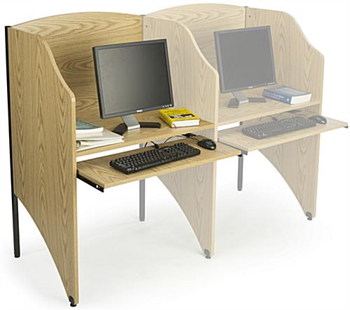 Library Study Carrel In Use