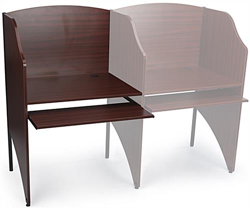 Study Cubicle With Mahogany Finish | Pullout Keyboard Tray