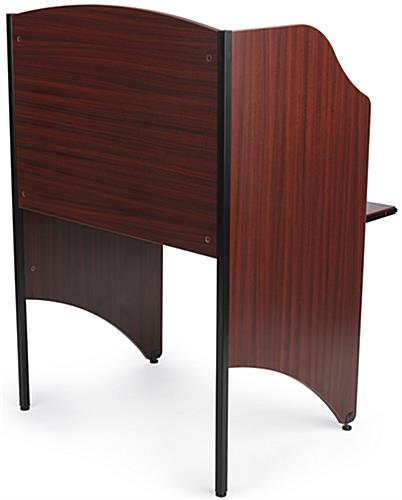 Back View of Office Carrel