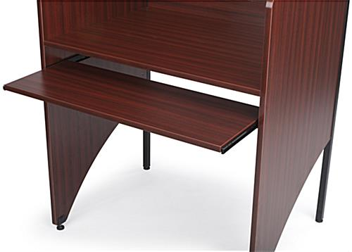 Office Carrel with Pull-Out Keyboard Tray