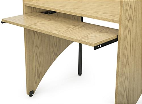 Carrel Table Pull-Out Keyboard Tray