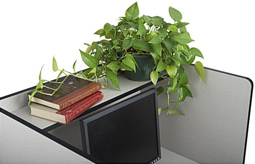 Work Carrel with Accessory Shelf
