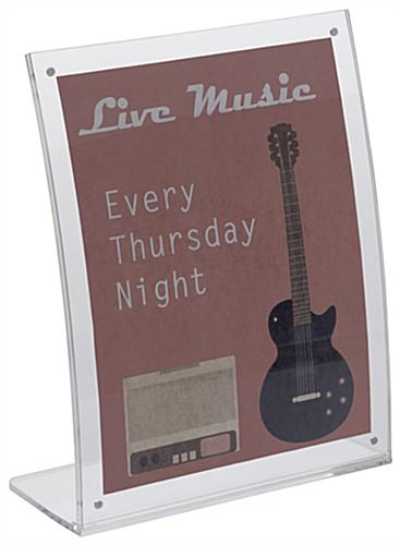 8x10 Curved Acrylic Ad Frame with 3 Piece Design
