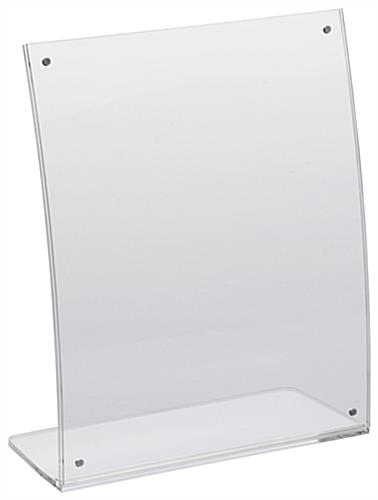 8x10 Curved Acrylic Ad Frame with Magnet Closures