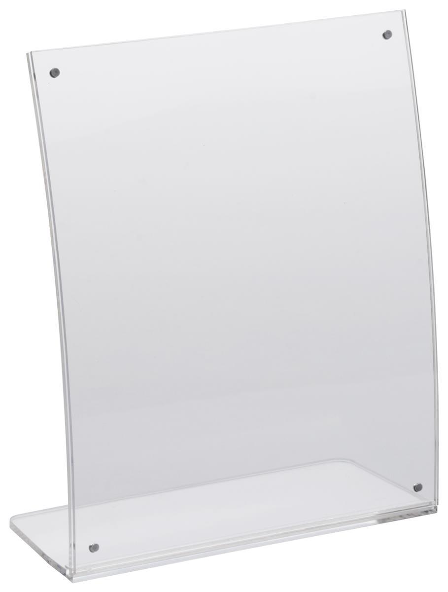 Curved Tabletop Sign Holder 8 X 10 Portrait Format