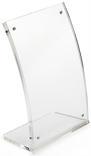 4 x 6 Curved Table Display Clear Acrylic