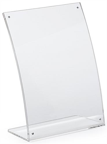 Eclipse Tabletop Sign Holder Clear Acrylic