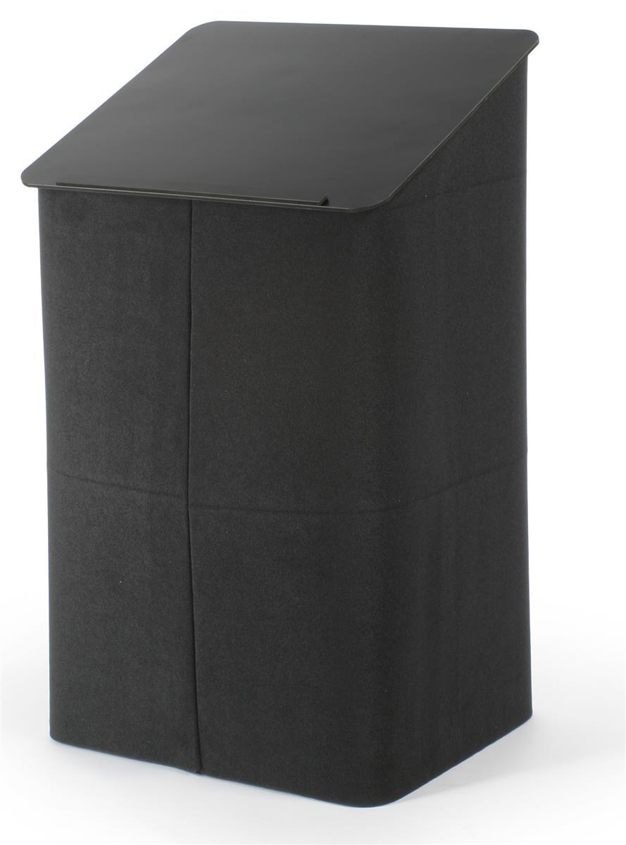 Portable Podium Folding W Hool Amp Loop Receptive Exterior