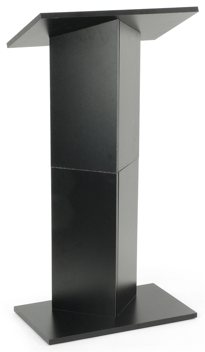 Portable Lectern Full Size Black Stand With Carry Bag