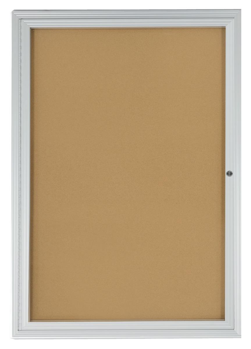 Cork Bulletin Boards 24 X 36 Enclosed W Locking Door
