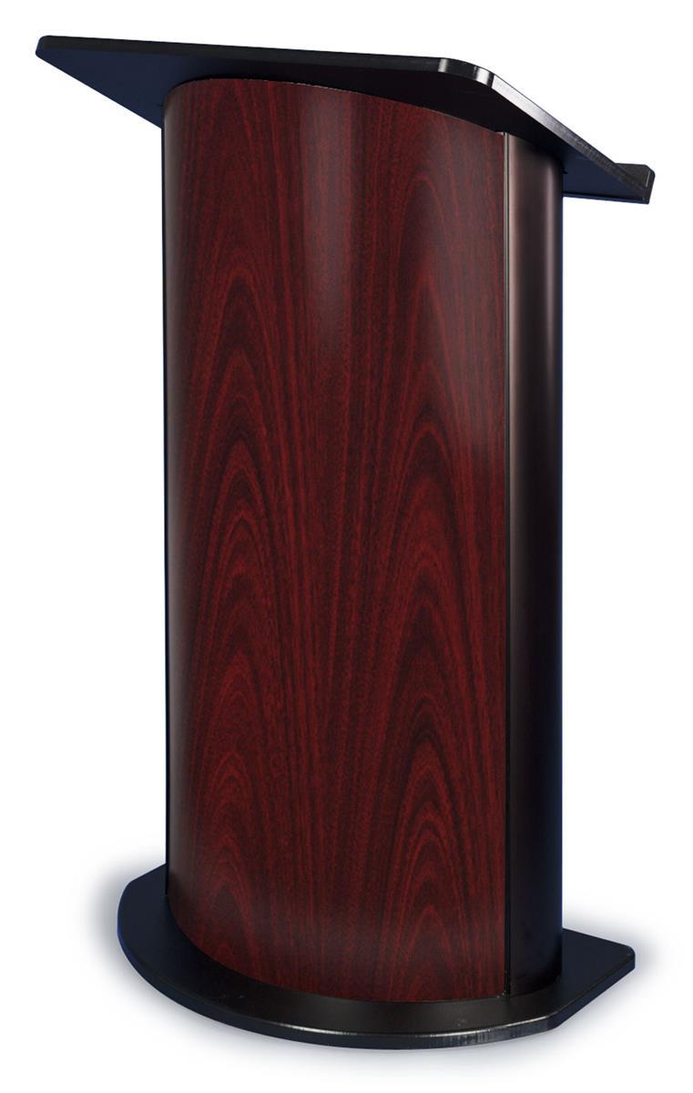 Jewel Mahogany Curved Podium With Shelf