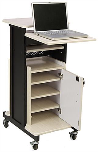 Computer Presentation Cart with Locking Cabinet