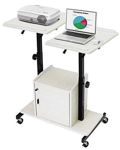 Laptop and Projector Cart with Locking Cabinet