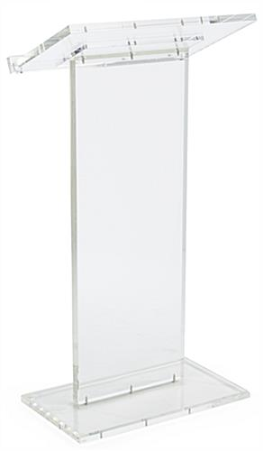 Acrylic Lectern Podium has a Large Reading Surface