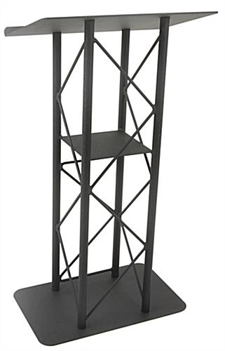 Open Front Black Steel Podium