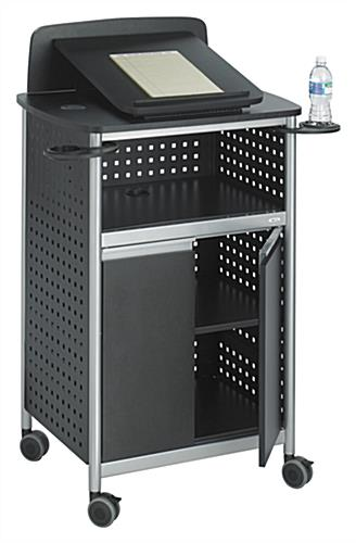 Media Lectern W Vented Cabinet Amp Adjustable Reading Surface