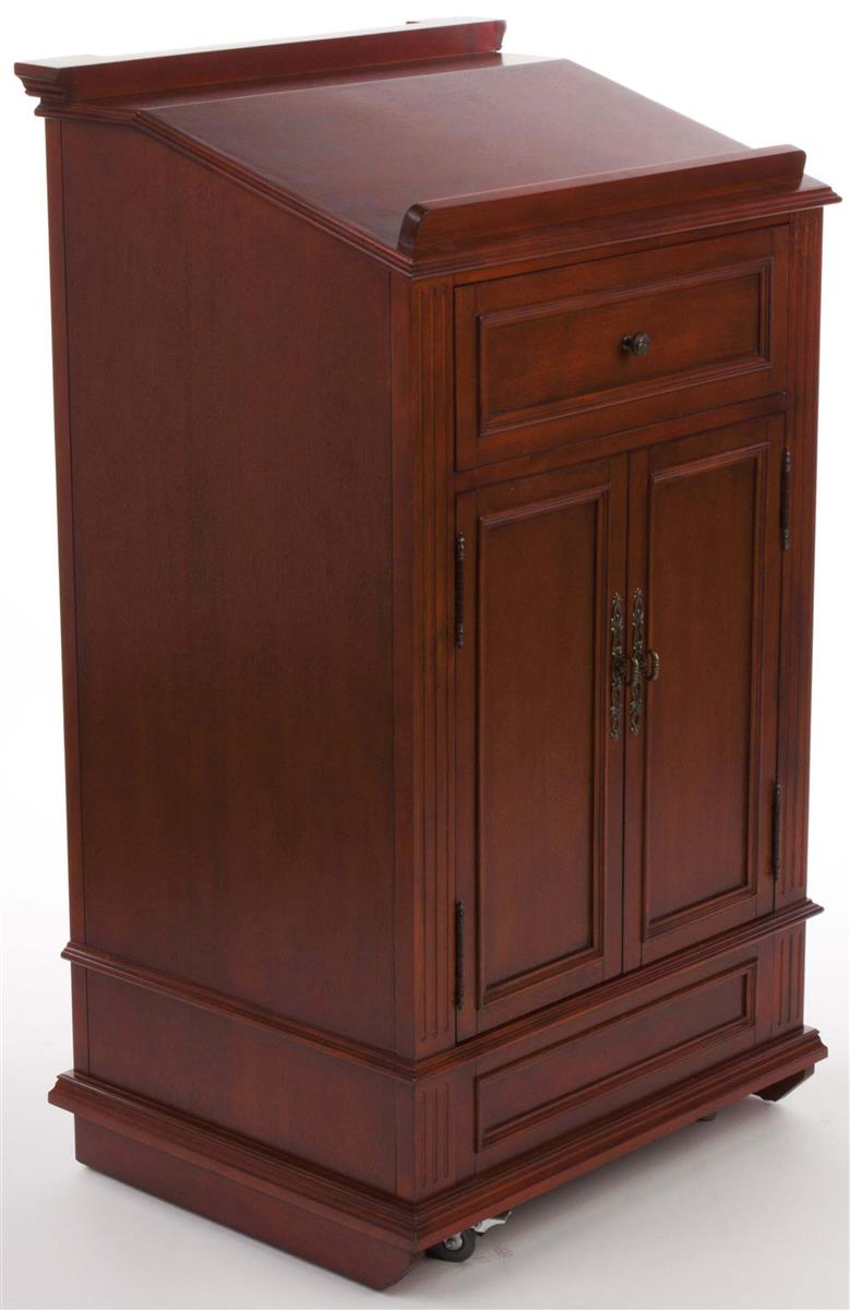 Displays2go Podium for Floor, Cabinet, Drawer & Wheels, O...
