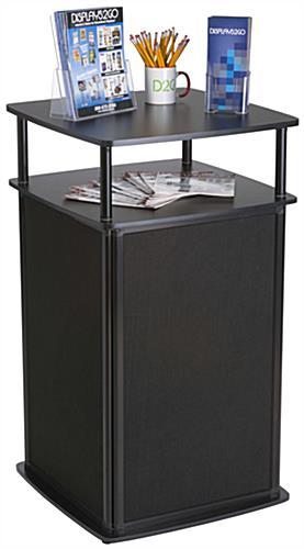 Portable Exhibition Cabinet : Locking trade show counter hidden storage display