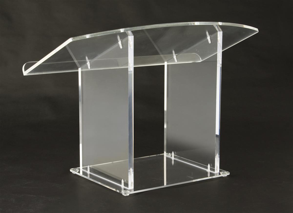 Acrylic Pulpit Clear Plexi Countertop Stand