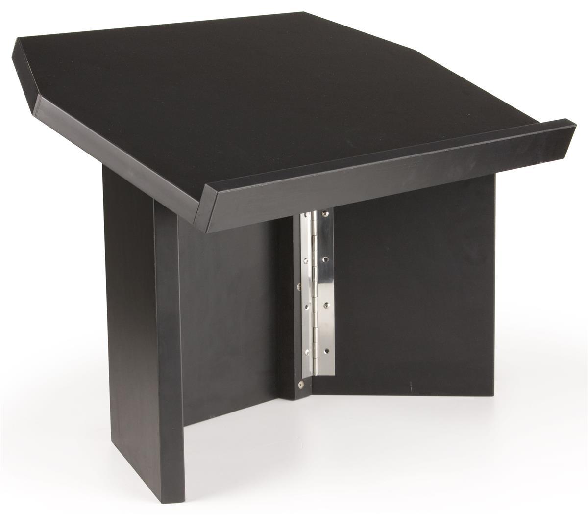 Tri Folding Tabletop Lectern Black