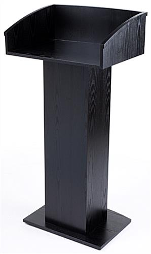 Black Wooden Lectern Stand