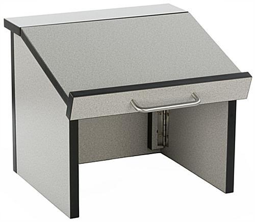 foldable desktop podium