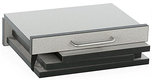 Folding Desktop Lectern Has a Gray Melamine Finish