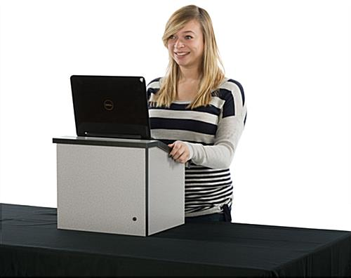 Folding Desktop Lectern Is Constructed for Lasting Use