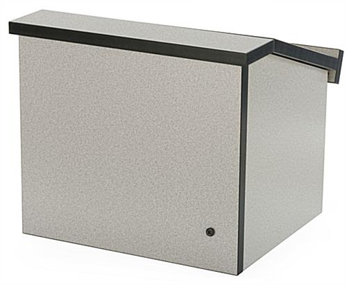"Folding Desktop Lectern Is Only 5"" Thick When Collapsed Closed"