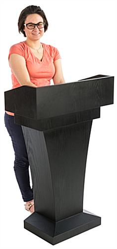 Restaurant Entrance Podium has a Semi-Enclosed Top