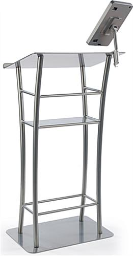 Silver iPad Lecture Stand for Presentations